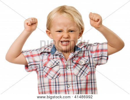 Angry Young Boy