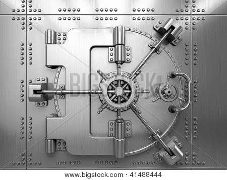Porta de cofre de banco