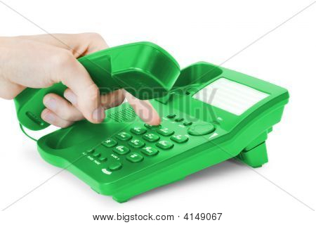 Communication. Green Phone