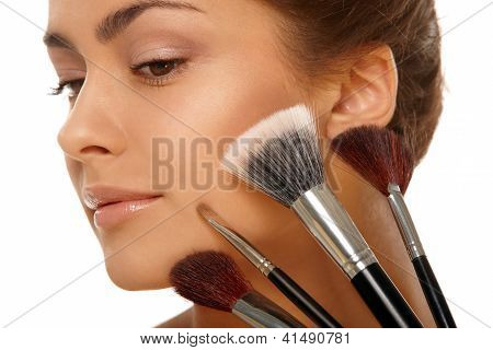 Beauty Face And Brushes