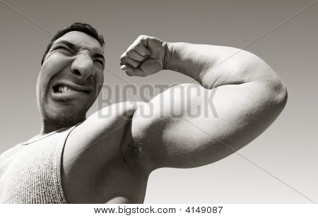 Mean Man With Big Muscles