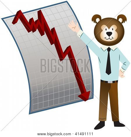 An image of a bear market.