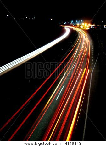 Lights Of Evening Traffic