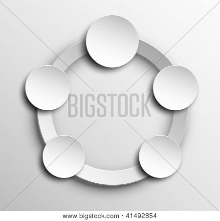 Paper marketing vector background