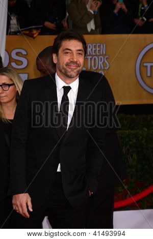 LOS ANGELES - JAN 27:  Javier Bardem arrives at the 2013 Screen Actor's Guild Awards at the Shrine Auditorium on January 27, 2013 in Los Angeles, CA
