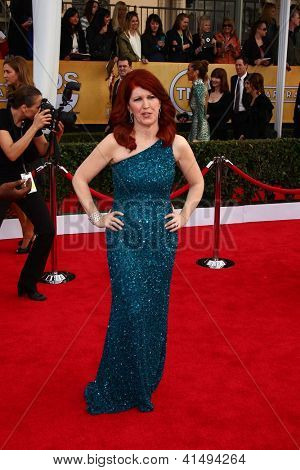 LOS ANGELES - JAN 27:  Kate Flannery arrives at the 2013 Screen Actor's Guild Awards at the Shrine Auditorium on January 27, 2013 in Los Angeles, CA