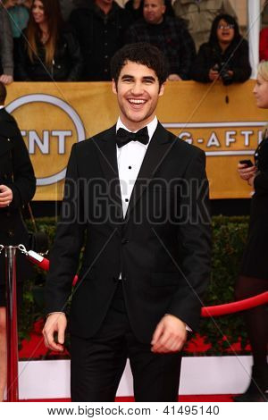 LOS ANGELES - JAN 27:  Darren Criss arrives at the 2013 Screen Actor's Guild Awards at the Shrine Auditorium on January 27, 2013 in Los Angeles, CA
