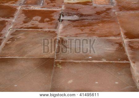 Red Sandstone Pavement Texture