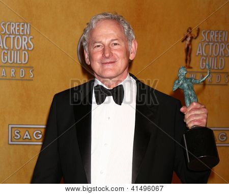 LOS ANGELES - JAN 27:  Victor Garber pose in the press room at the 2013 Screen Actor's Guild Awards at the Shrine Auditorium on January 27, 2013 in Los Angeles, CA