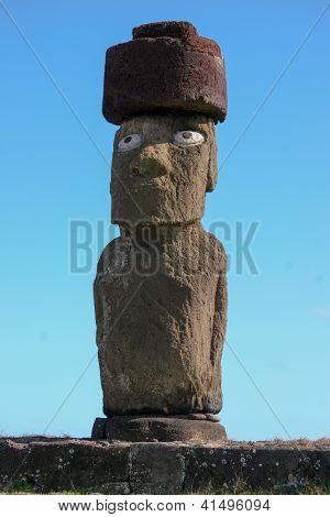 Moai at Tahai on Easter Island