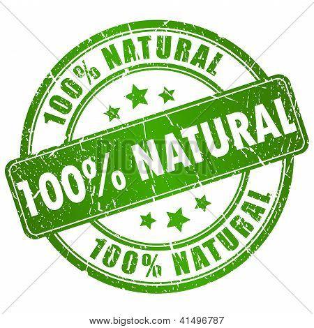 Sello natural Vector