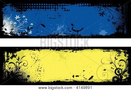 Floral Grunge Backgrounds