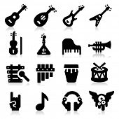 stock photo of double-bass  - Music Icons - JPG
