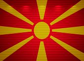 Macedonian Flag Wall, Abstract Background
