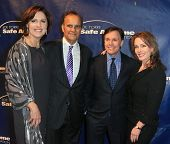 NEW YORK-AUG 14: Ali and Joe Torre (L) with Bob and Jill Costas attend the 10th Anniversary Joe Torr