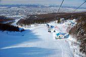 stock photo of sakhalin  - Ski resort cable road view Sakhalin Russia - JPG