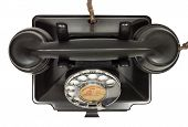 stock photo of bakelite  - Old bakelite telephone - JPG