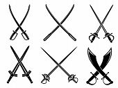 stock photo of crossed swords  - Swords - JPG
