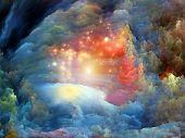 image of hallucinations  - Abstract arrangement of dreamy forms and colors suitable as background for projects on dream imagination fantasy and abstract art - JPG