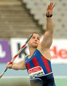 BARCELONA - JULY, 22: Jordi Sanchez of FC Barcelona during Javelin Throw Event of Barcelona Athletic