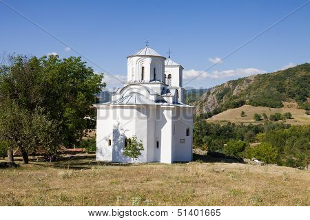 The Church In The Orthodox Monastery Nova Pavlica In Serbia