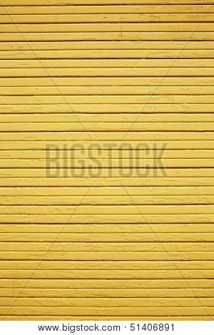 Weather Yellow wood wall vertical composition with horizontal planks