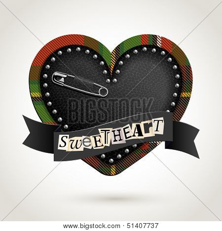 Punk heart, eps10 vector