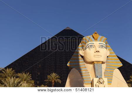 Luxor Hotel At Sunrise In Las Vegas, Nv On April 19, 2013