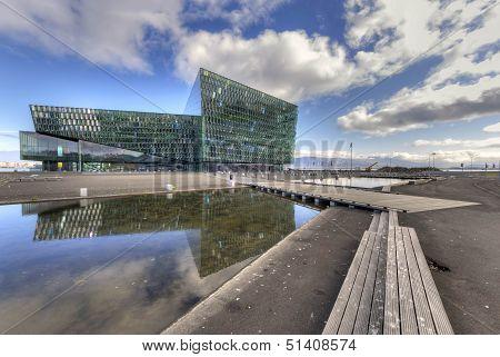 Harpa Concert Hall In Reykjavik, Iceland