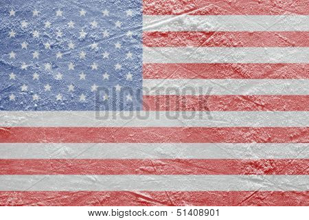 The American Flag On The Ice