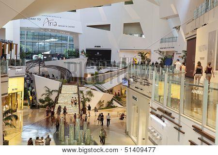 Crystals Mall Interior In Las Vegas, Nv On April 27, 2013