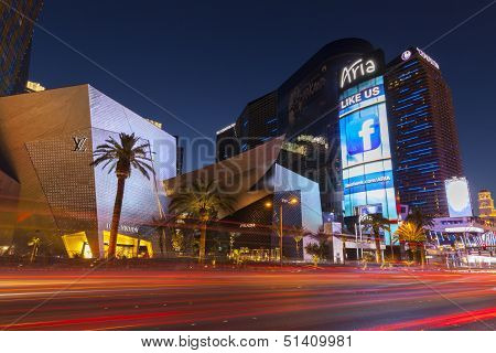 The Aria Hotel At Night In Las Vegas, Nv On May 18, 2013