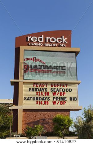 Red Rock Casino Sign In Las Vegas, Nv On May 29, 2013