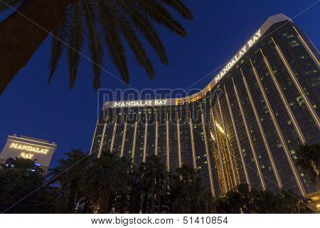 Mandalay Bay At Night In Las Vegas, Nv On May 31, 2013