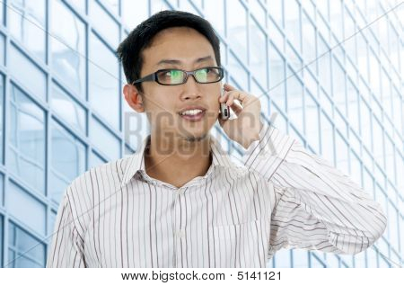 Businessman On Phone.