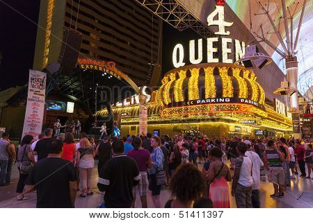 Tourists Enjoy Free Concerts In Las Vegas, June 21, 2013.