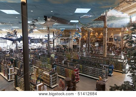 Bass Pro Shop, Outdoor World At The Silverton Hotel In Las Vegas, Nv On August 20, 2013