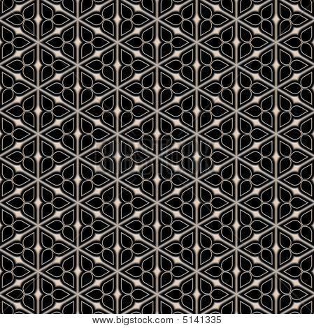Metal Victorian Flower Pattern