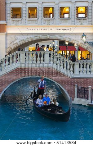 The Canal Shoppes At Venetian In Las Vegas, Nv On March 30, 2013