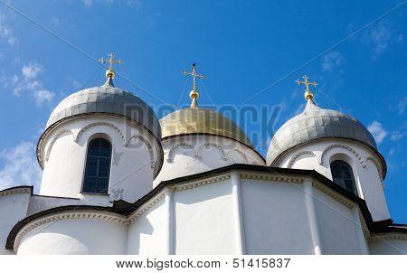 Saint Sophia Cathedral In Kremlin Of Great Novgorod Russia