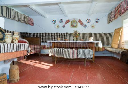 Ukrainian Historical Peasant Dwelling Interior