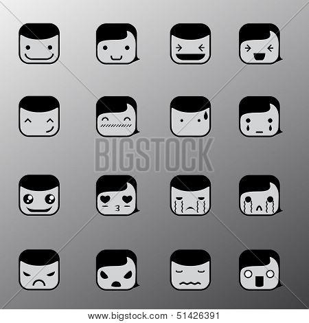 Simple Emotion Face Symbols
