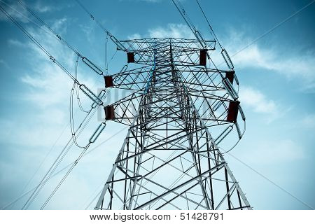 Electricity Pylon With Cable