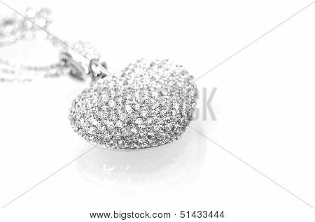 Heart Shaped Pendant Close Up