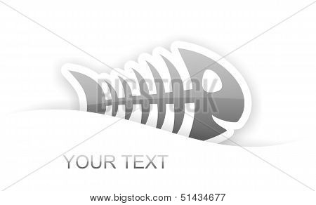 Gray Glossy Fish Bone Sticker Notification
