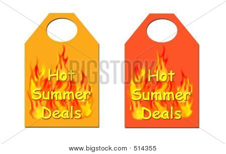 Hot Summer Deals Tag.
