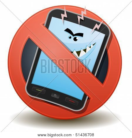 Unhealthy Mobile Phone With Harmful Waves