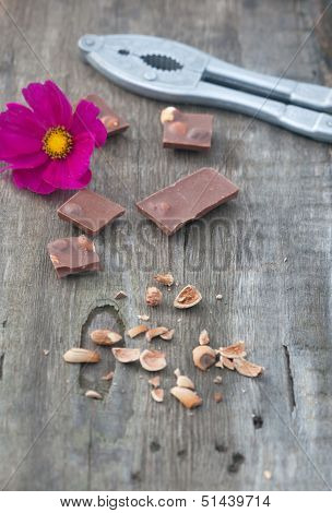 Flowers, Chocolate, Nutshell And Nutcracke