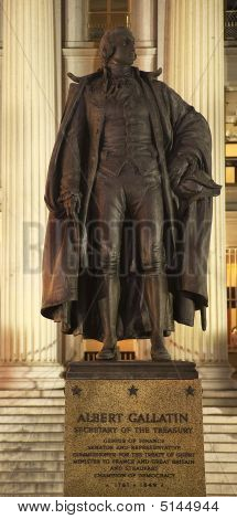 Albert Gallatin Statue Us Treasury Department Us Treasury Depart