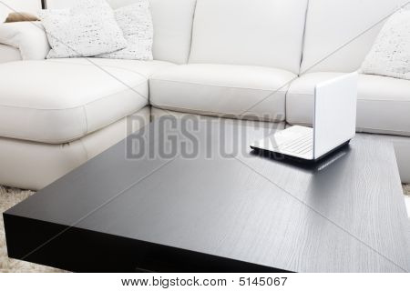 Modern Furniture And Laptop